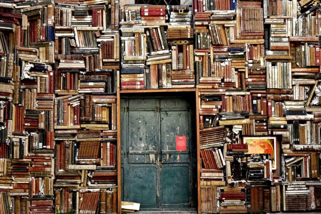 Books and doorway